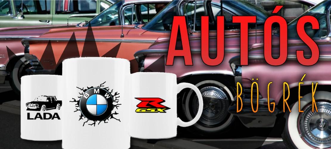 Autós, motoros tematikájú bögrék