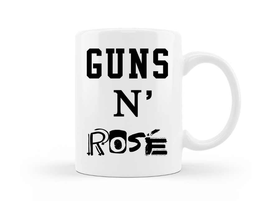 Guns 'N Rosé vicces feliratos ivós  bögre kép