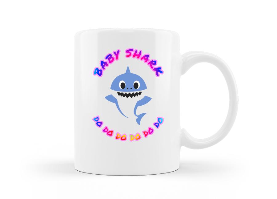 Baby shark bögre kép