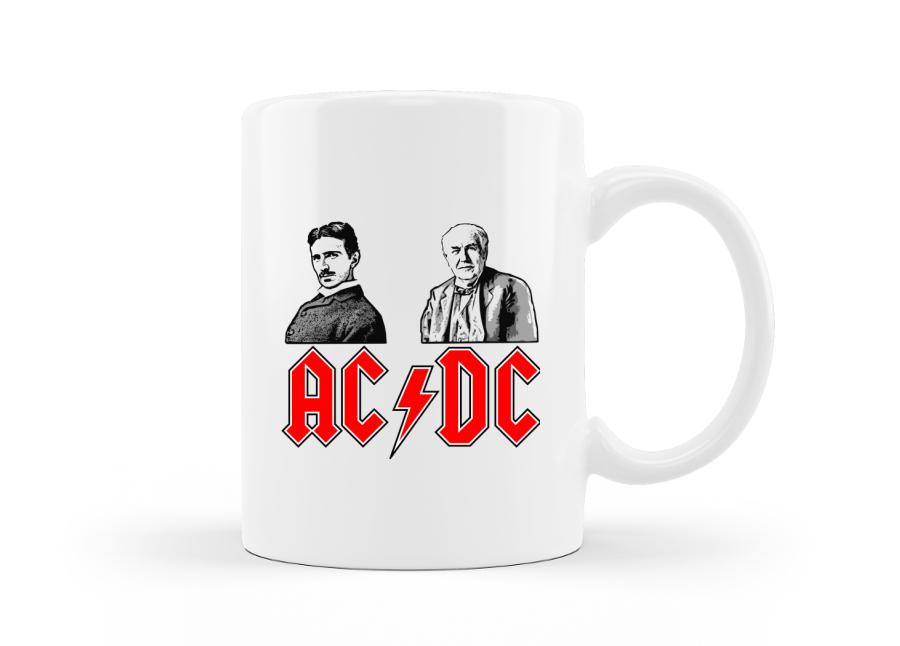 AC/DC logós zenés bögre villanyszerelőknek és rockereknek kép