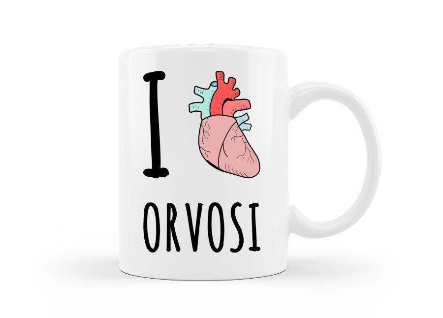 I love Orvosi Egyetem vicces ajándék bögre egyetemistáknak kép