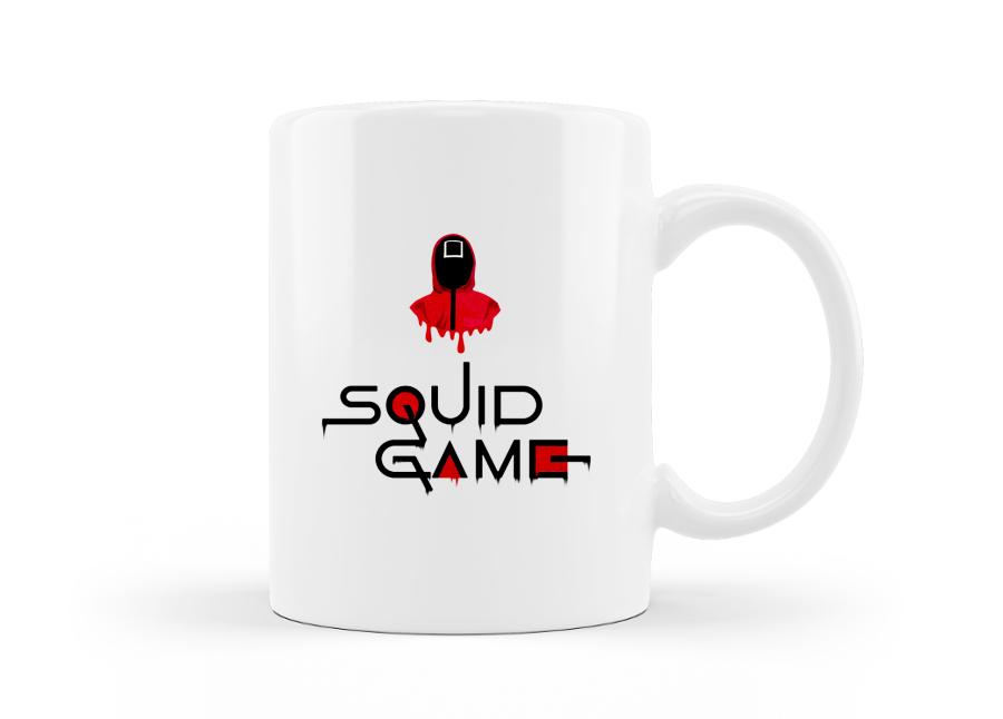 Squid Game logós sorozatos bögre kép